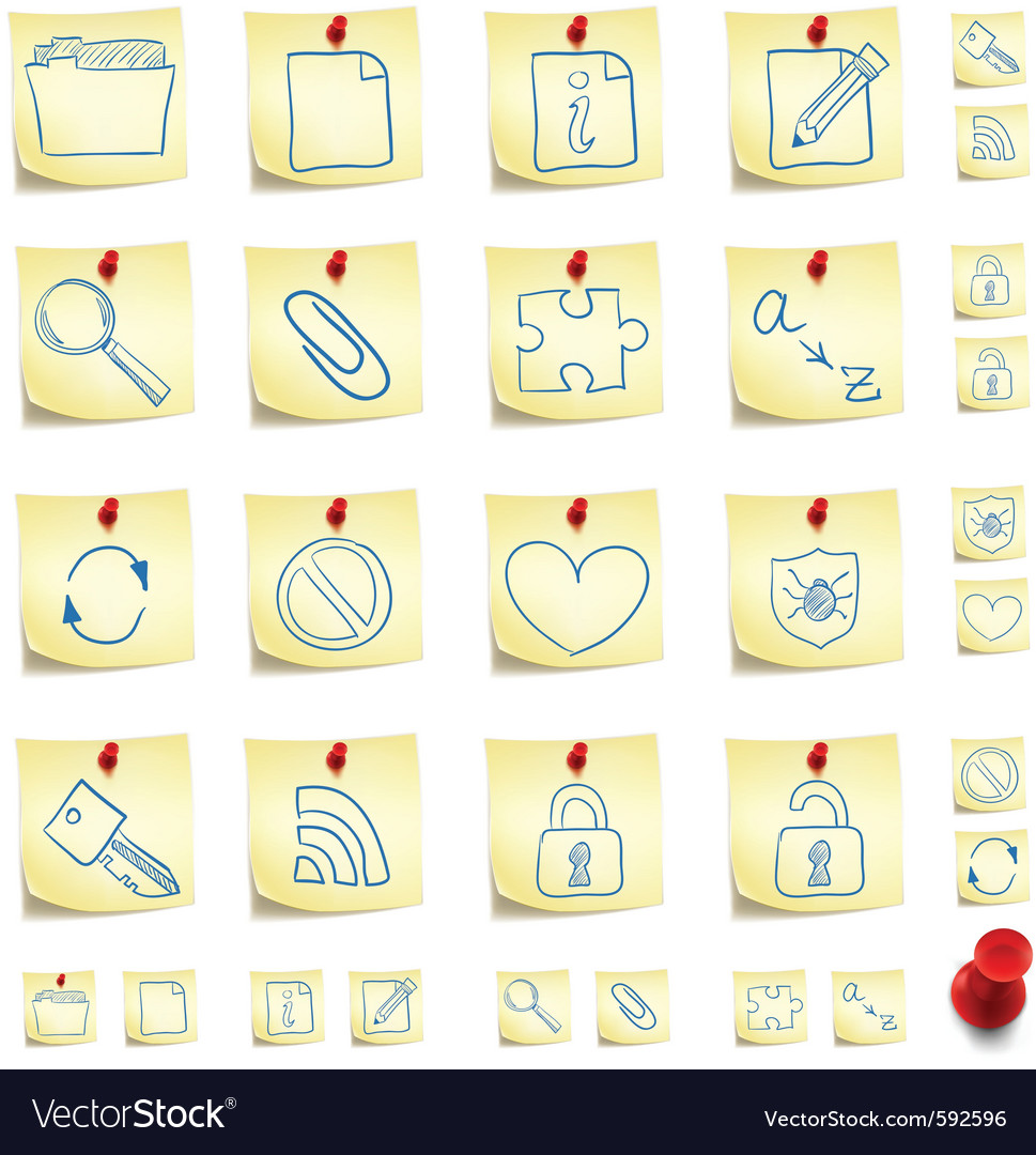 Sticker icon set vector | Price: 1 Credit (USD $1)
