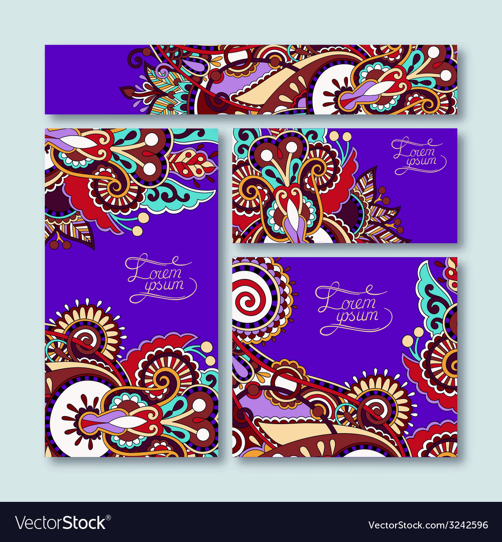 Violet colour collection of decorative floral vector   Price: 1 Credit (USD $1)