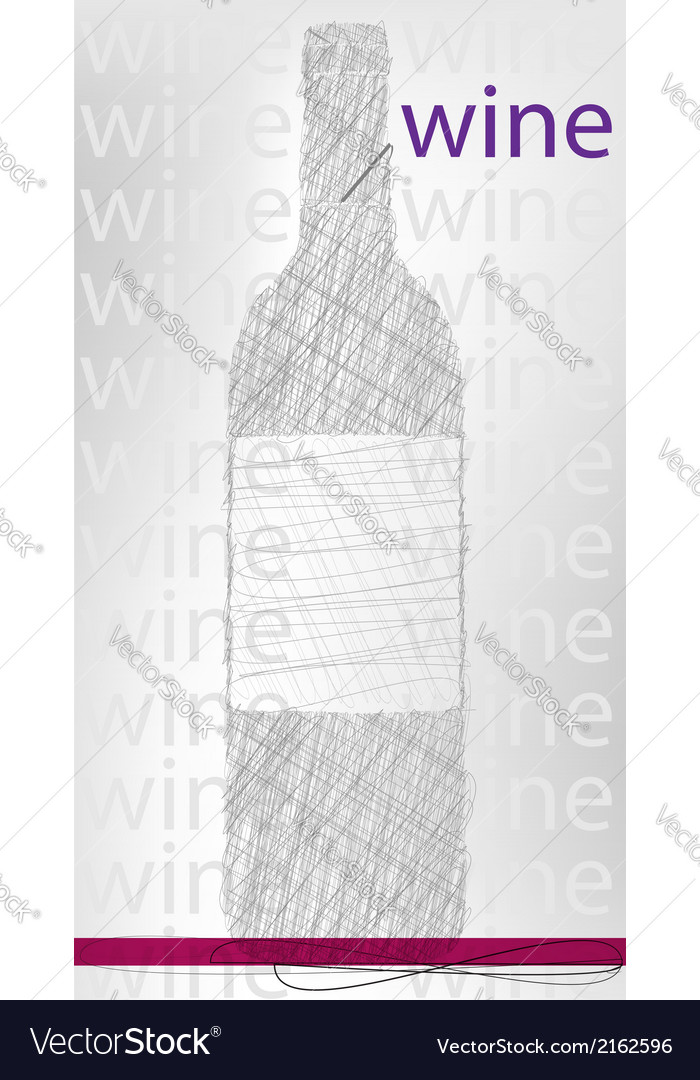 Wine bottle poster vector | Price: 1 Credit (USD $1)