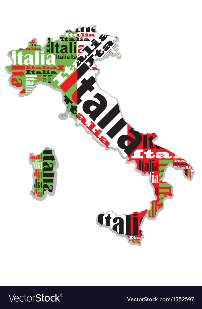 A map of italy vector | Price: 1 Credit (USD $1)