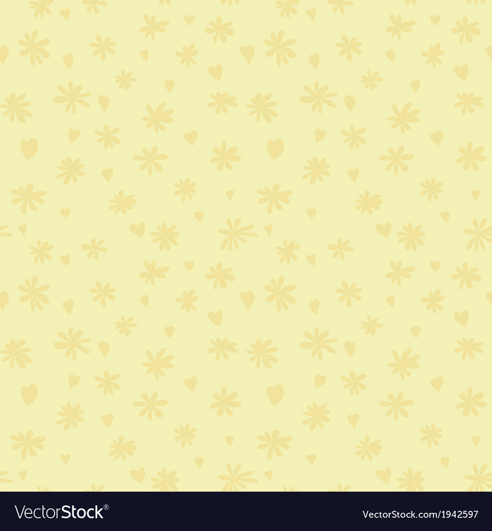 Beige silhouette of camomile and heart vector | Price: 1 Credit (USD $1)