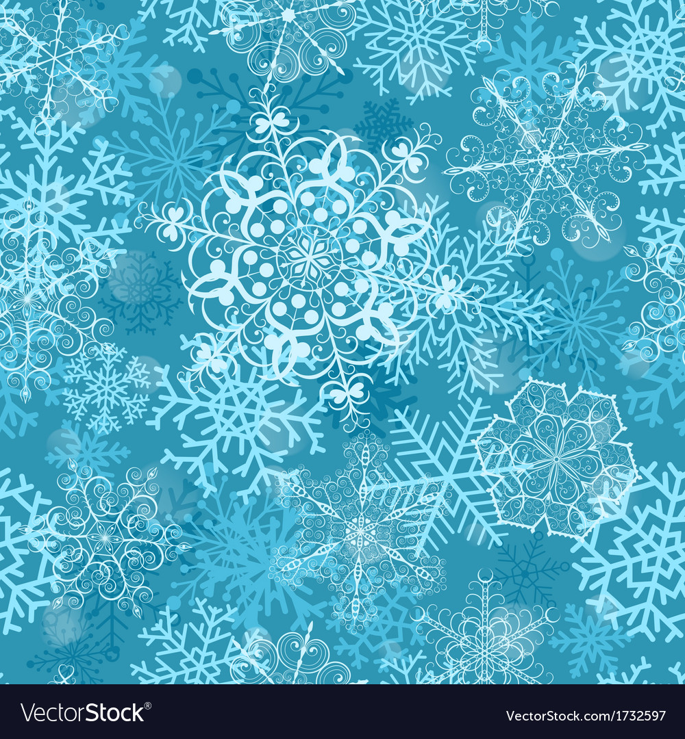 Christmas seamless pattern on turquoise vector | Price: 1 Credit (USD $1)
