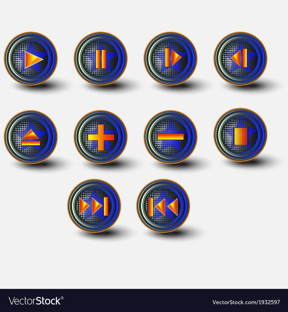 Collection of different music themes icons vector | Price: 1 Credit (USD $1)