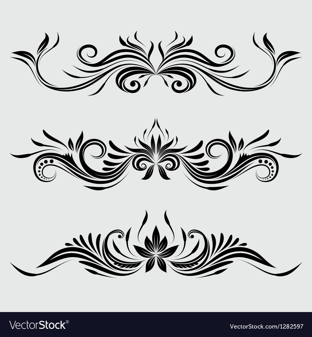Decorative swirl ornamental vector | Price: 1 Credit (USD $1)
