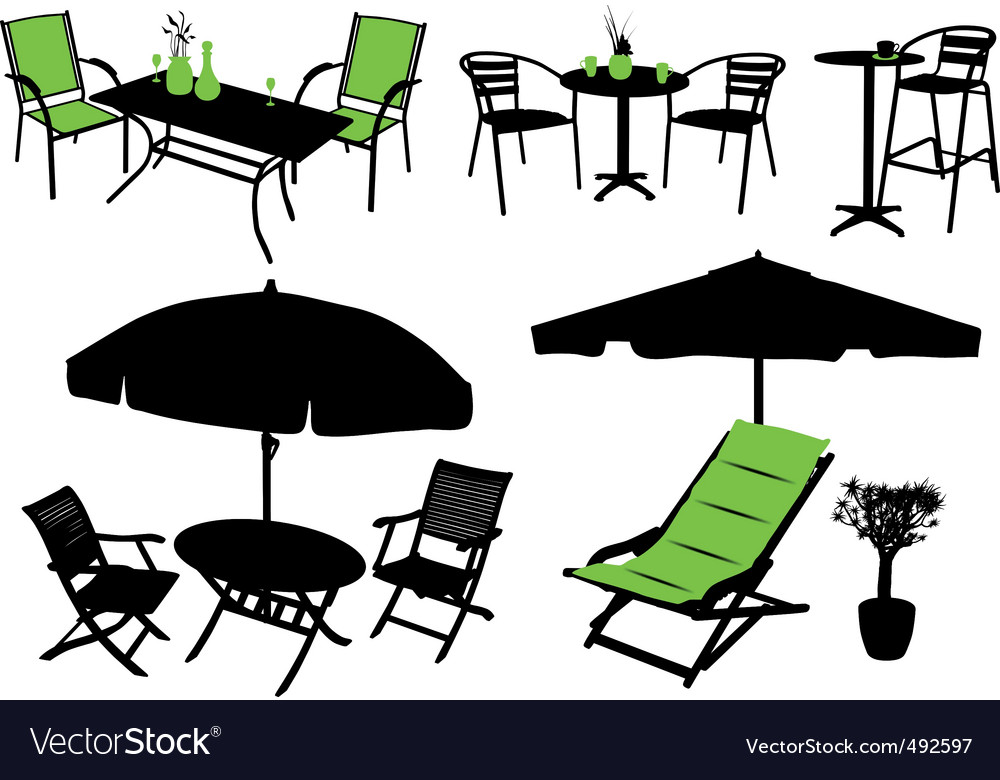 Furniture silhouettes vector | Price: 1 Credit (USD $1)