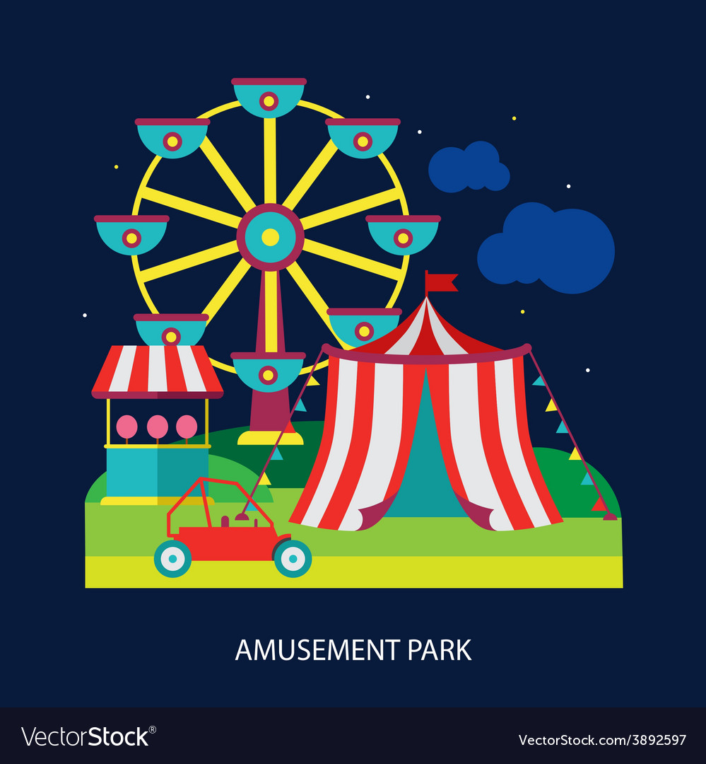Kids circus fun fair vector | Price: 1 Credit (USD $1)