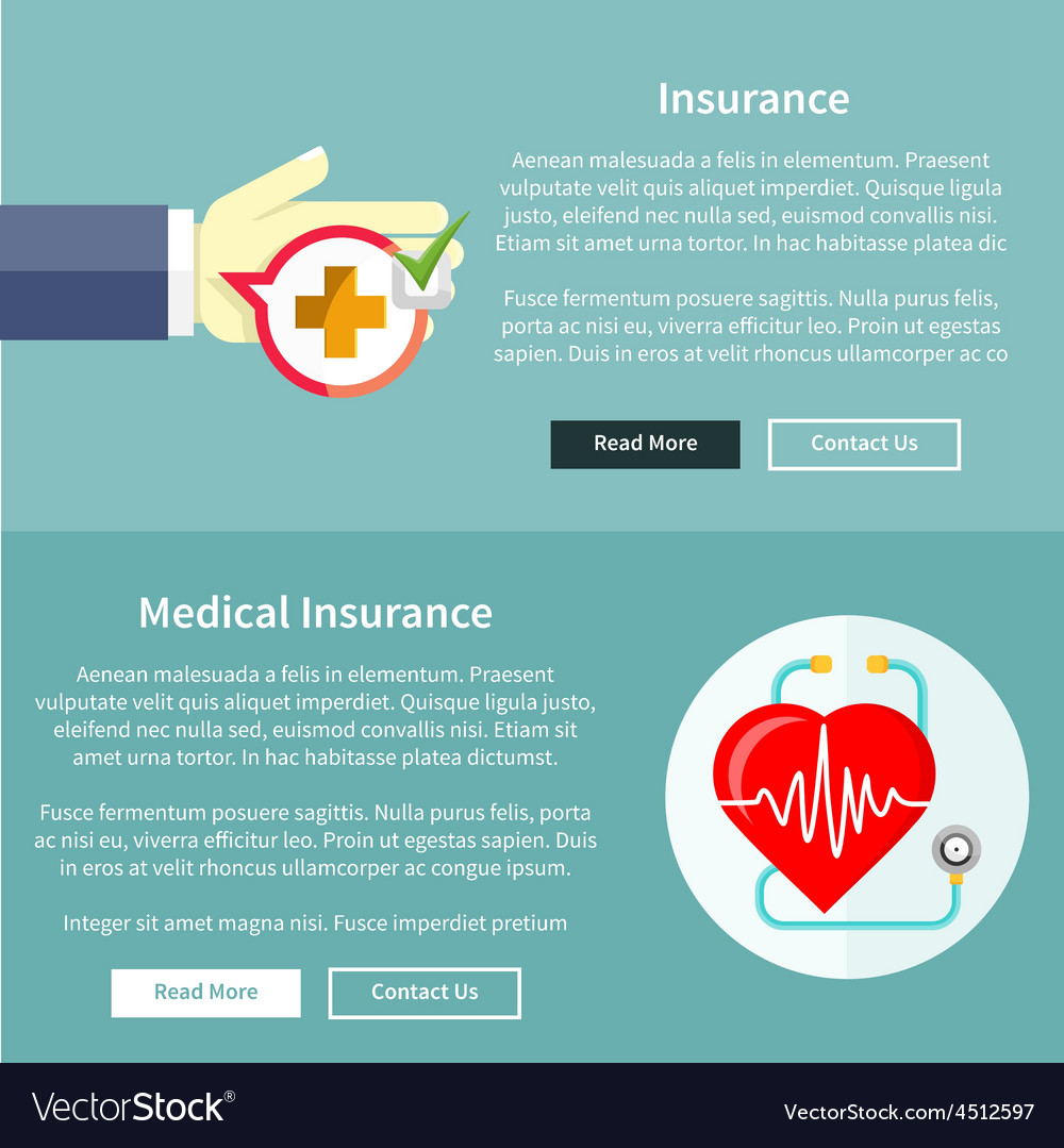 Medical and health insurance vector | Price: 1 Credit (USD $1)