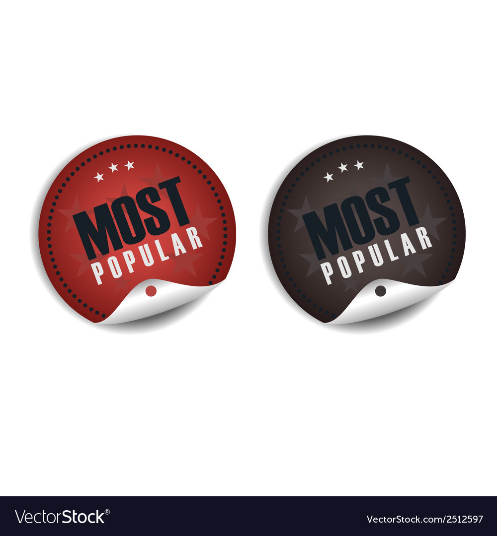 Most popular label vector | Price: 1 Credit (USD $1)