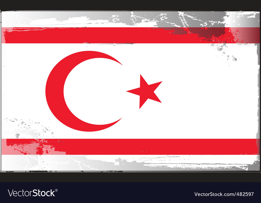 Northern cyprus national flag vector   Price: 1 Credit (USD $1)