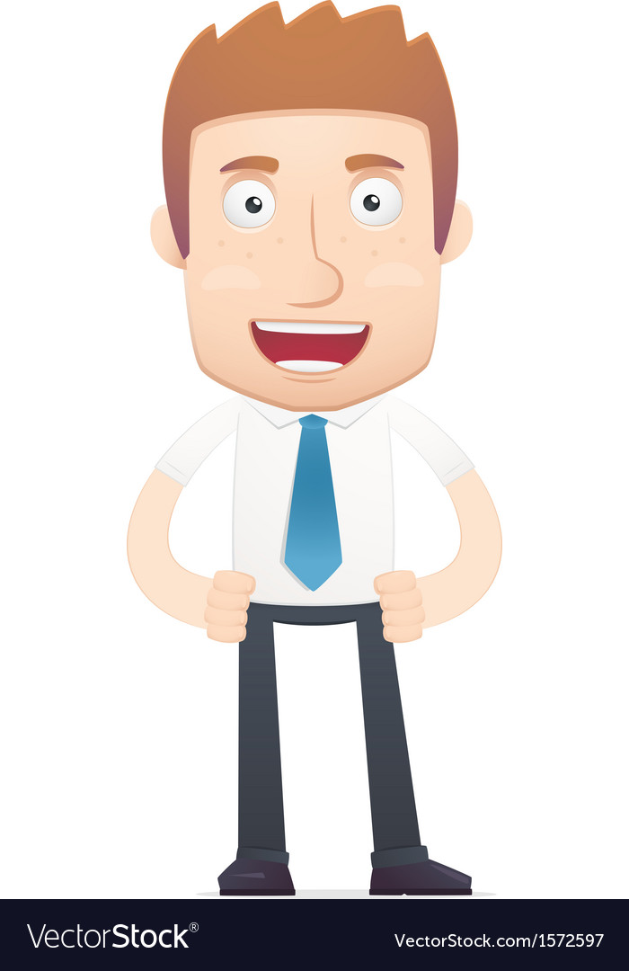 Office worker in various poses vector | Price: 1 Credit (USD $1)
