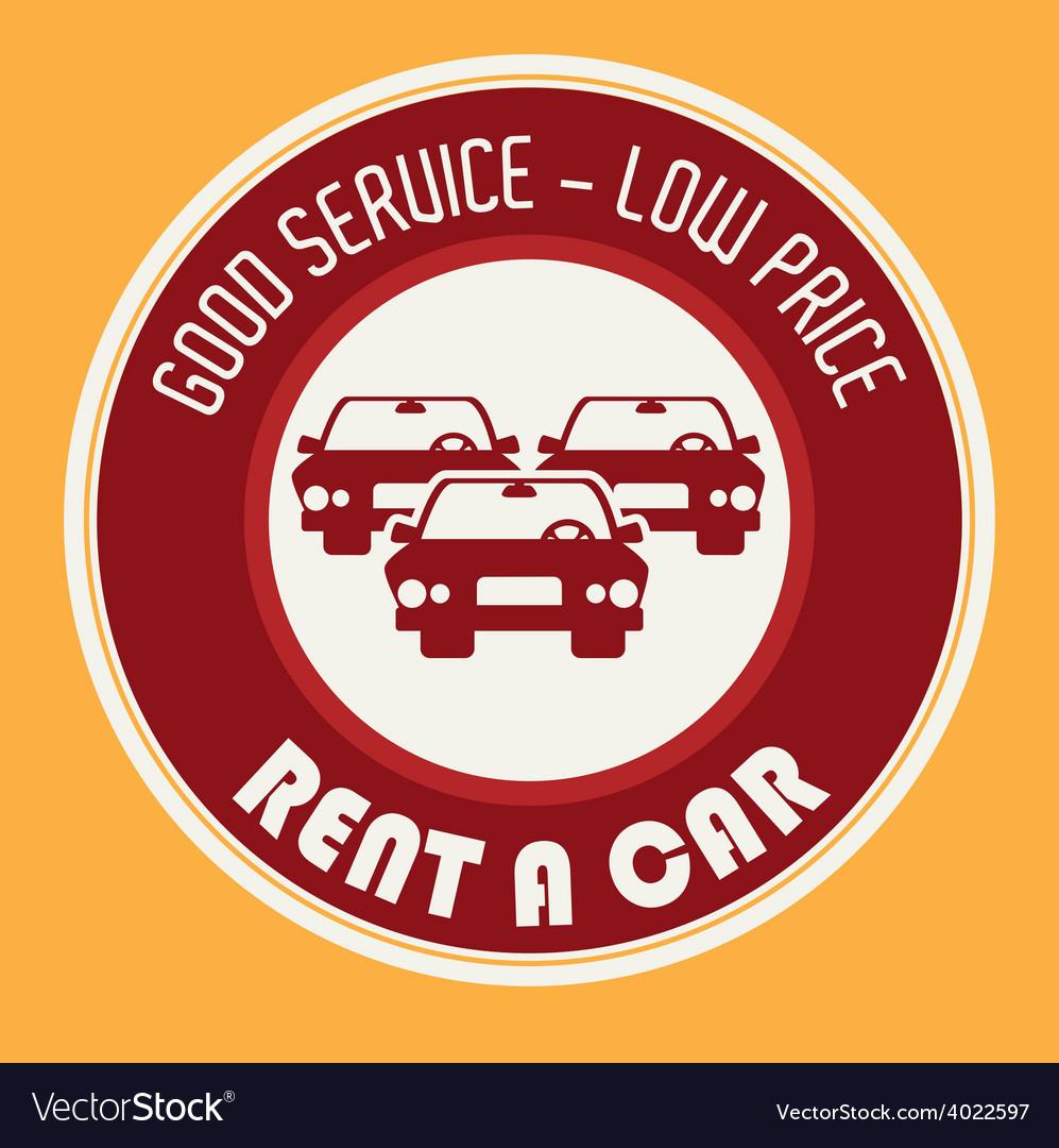 Rent a car design vector | Price: 1 Credit (USD $1)