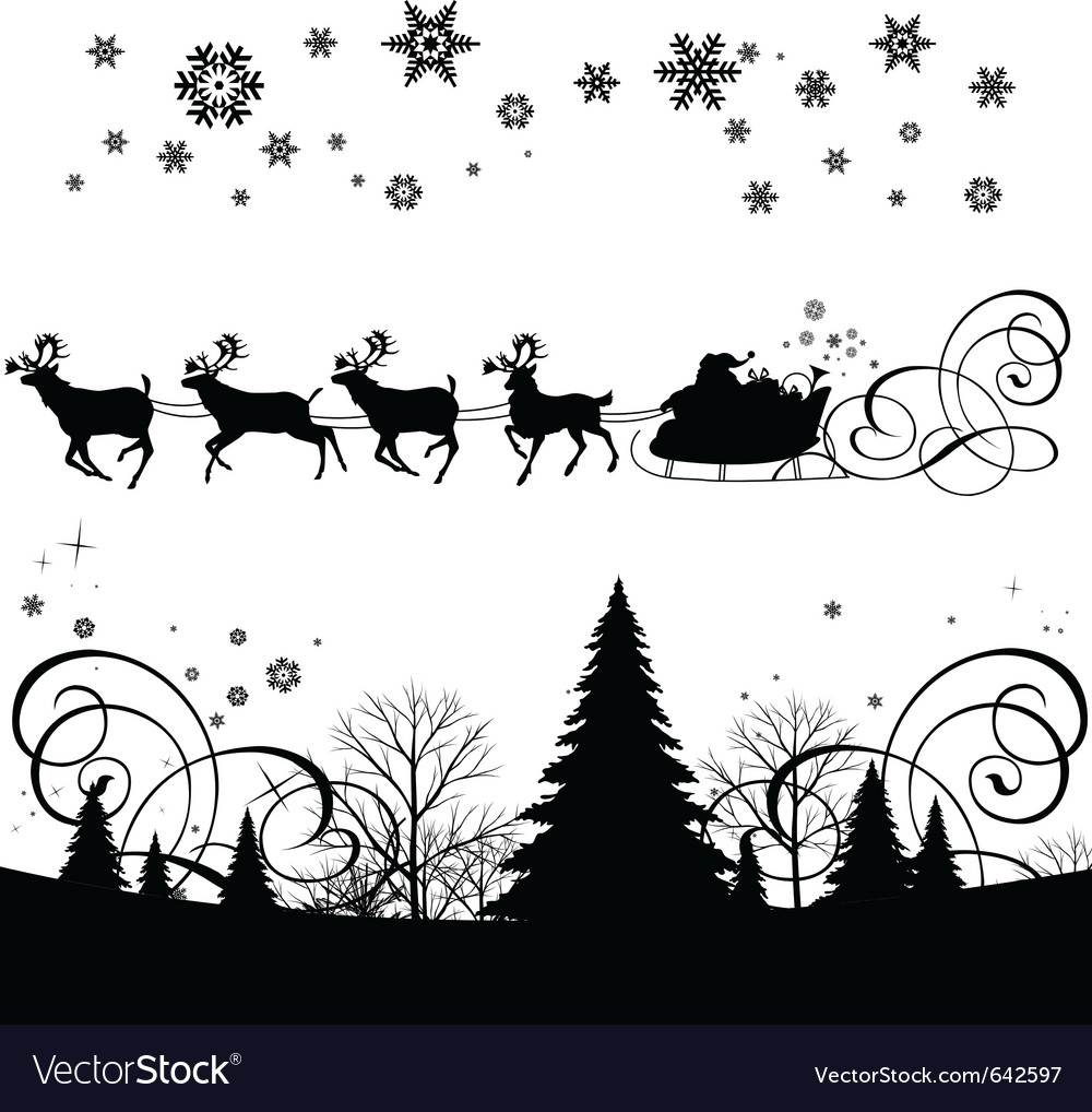 Santas sleigh vector | Price: 1 Credit (USD $1)