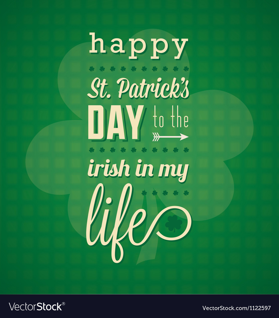 St patricks day card and wallpaper vector | Price: 1 Credit (USD $1)