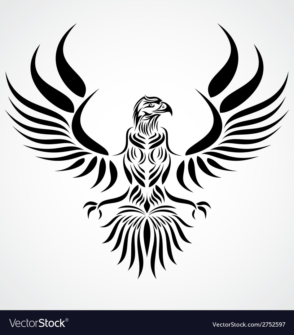 Tribal eagle bird vector | Price: 1 Credit (USD $1)