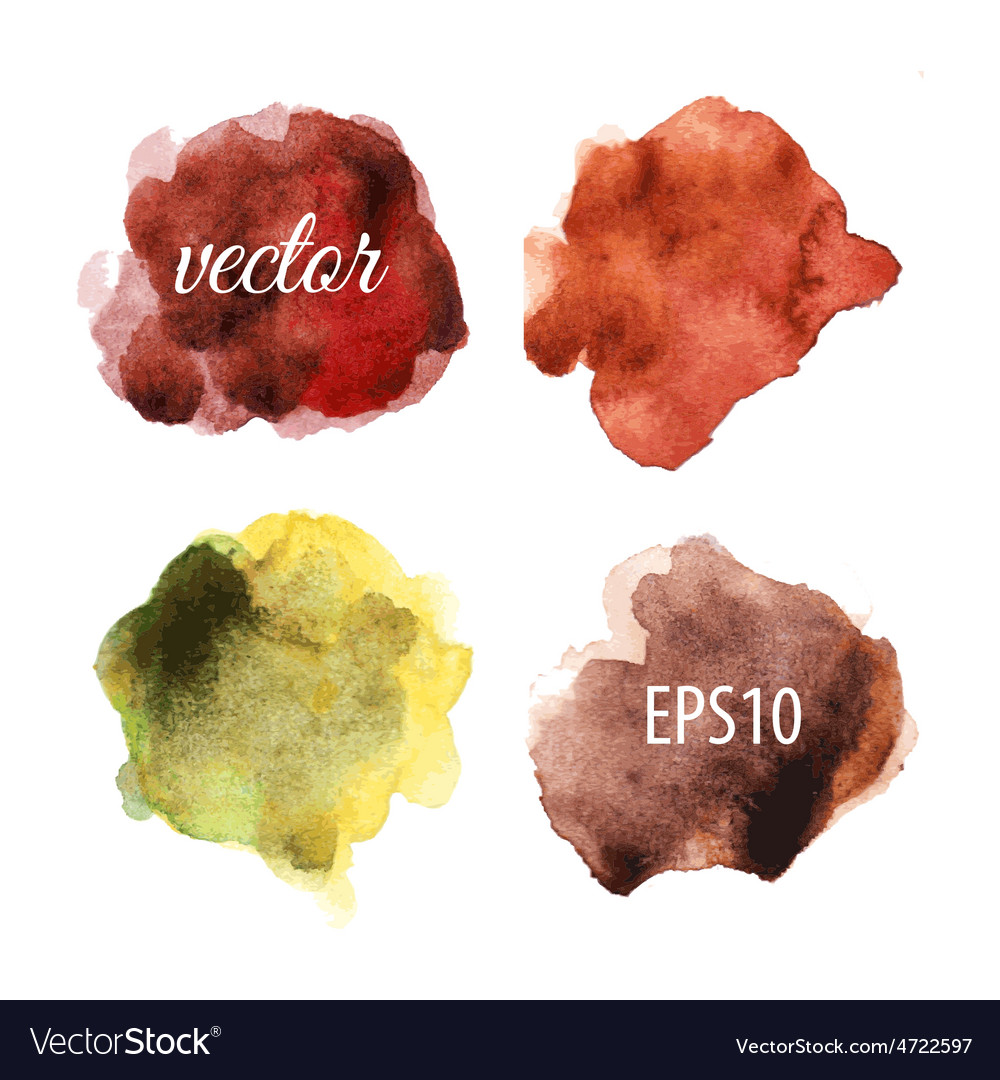 Watercolor blots isolated on white background vector | Price: 1 Credit (USD $1)