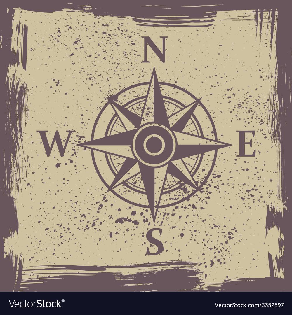 Wind rose grunge vector | Price: 1 Credit (USD $1)