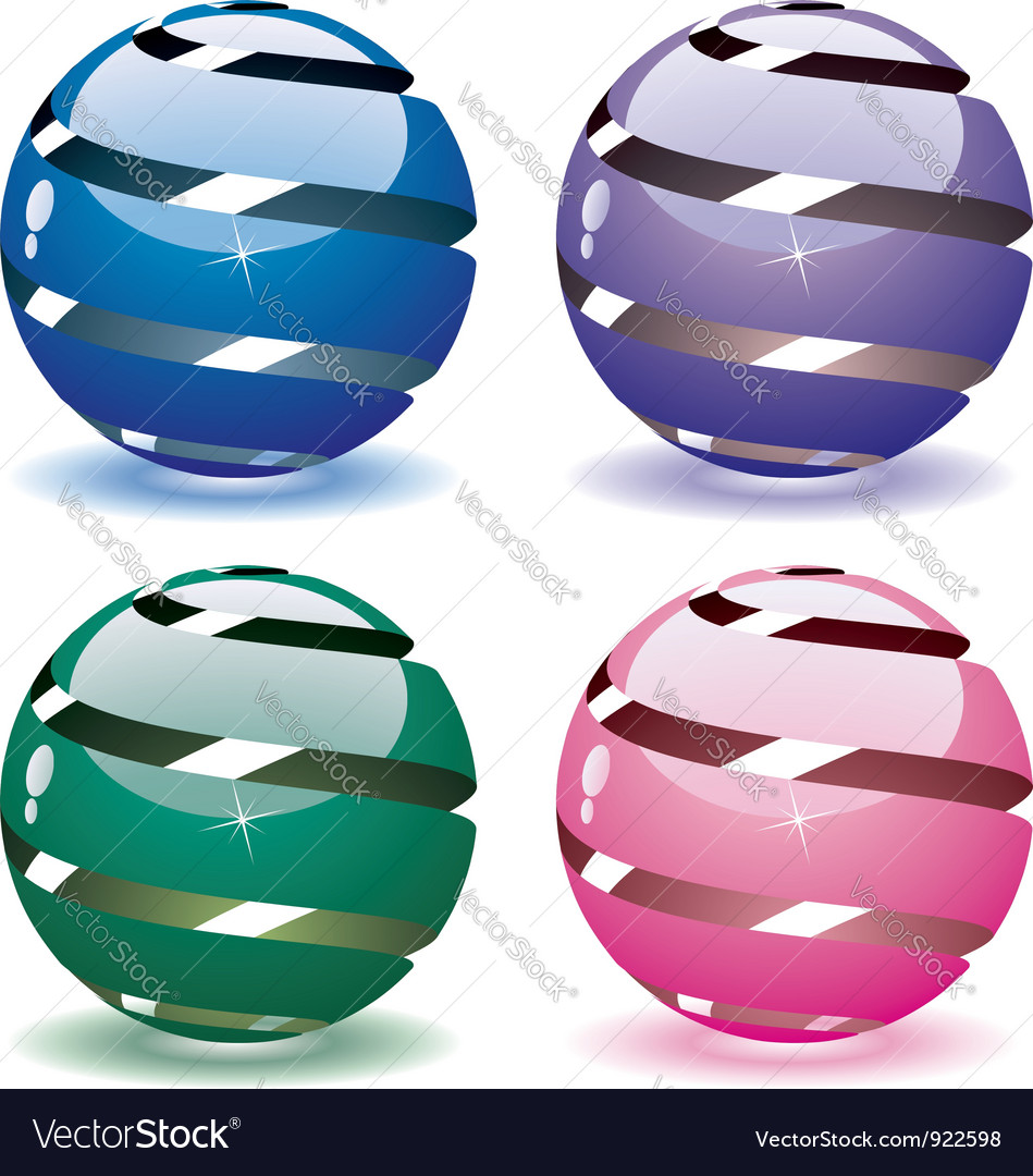 3d globes vector | Price: 3 Credit (USD $3)