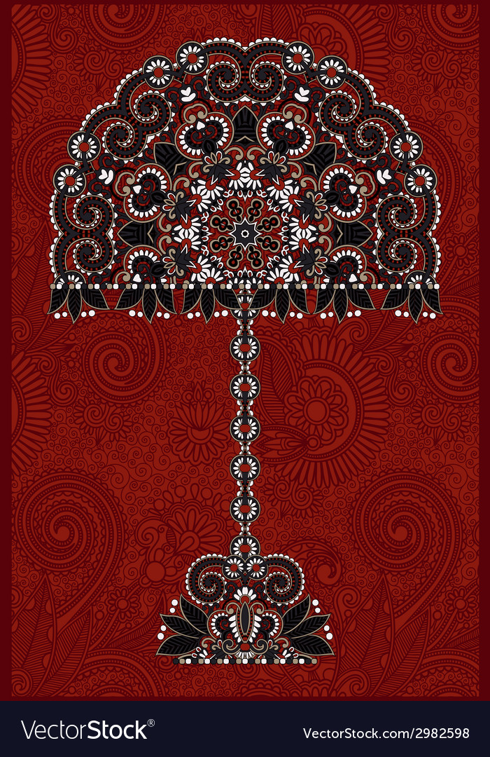 Abstract ornamental floral tree vector | Price: 1 Credit (USD $1)