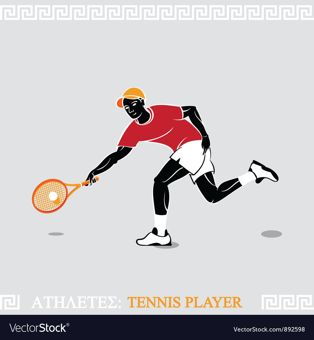 Athlete tennis player vector | Price: 3 Credit (USD $3)