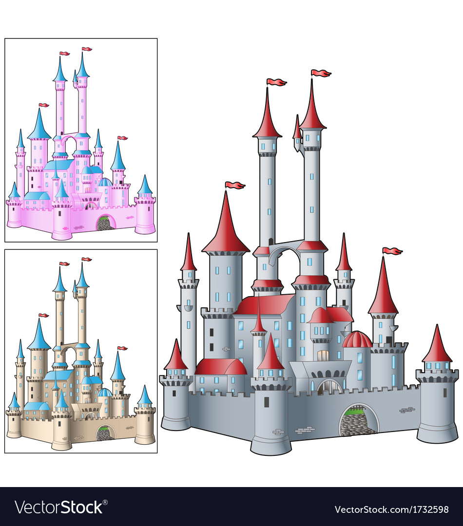 Fairy tale castle vector | Price: 1 Credit (USD $1)