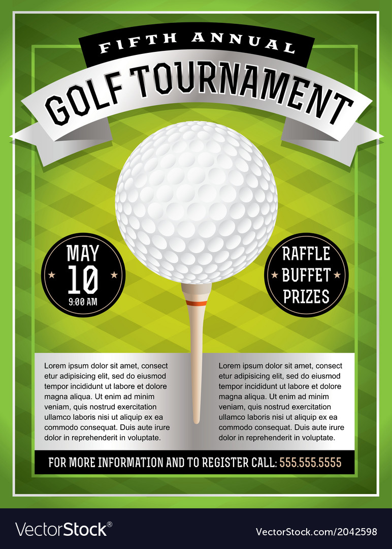 Golf flyer and poster vector