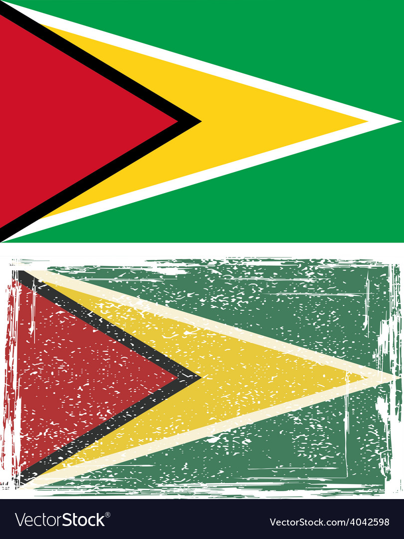 Guyana grunge flag vector | Price: 1 Credit (USD $1)