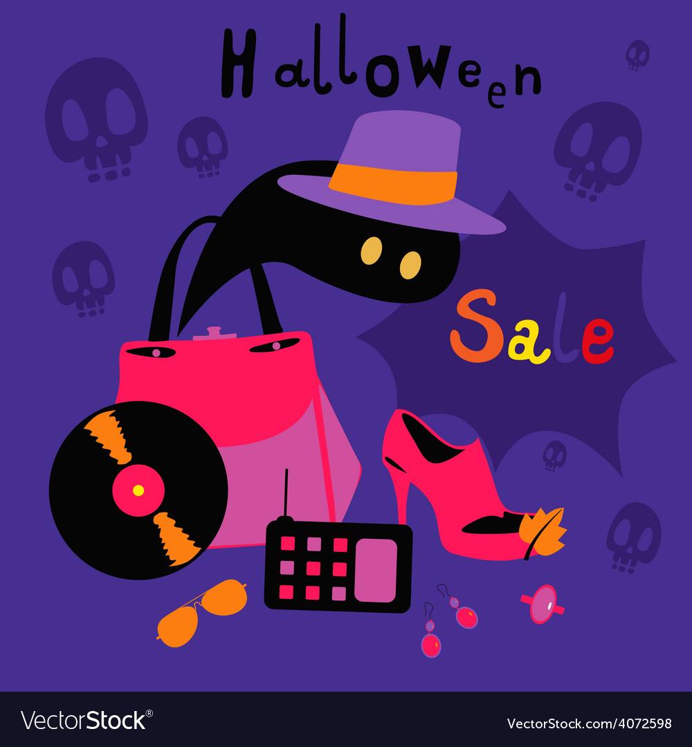 Halloween sale cartoons vector | Price: 1 Credit (USD $1)