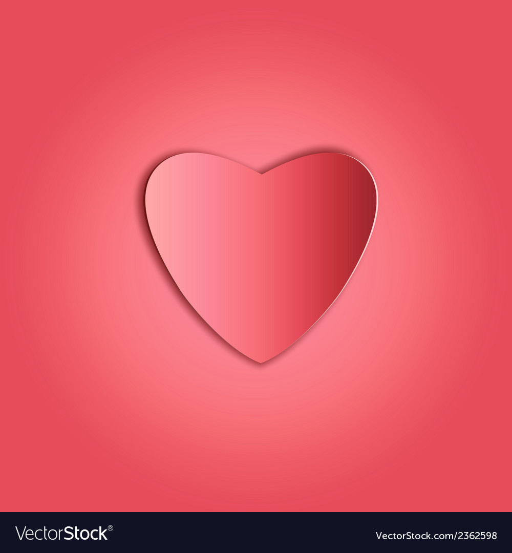 Heart paper copy vector | Price: 1 Credit (USD $1)