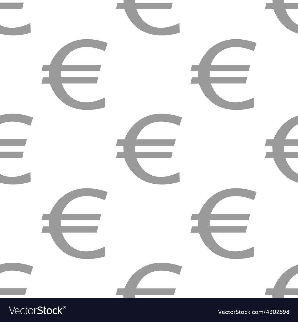 New euro seamless pattern vector | Price: 1 Credit (USD $1)