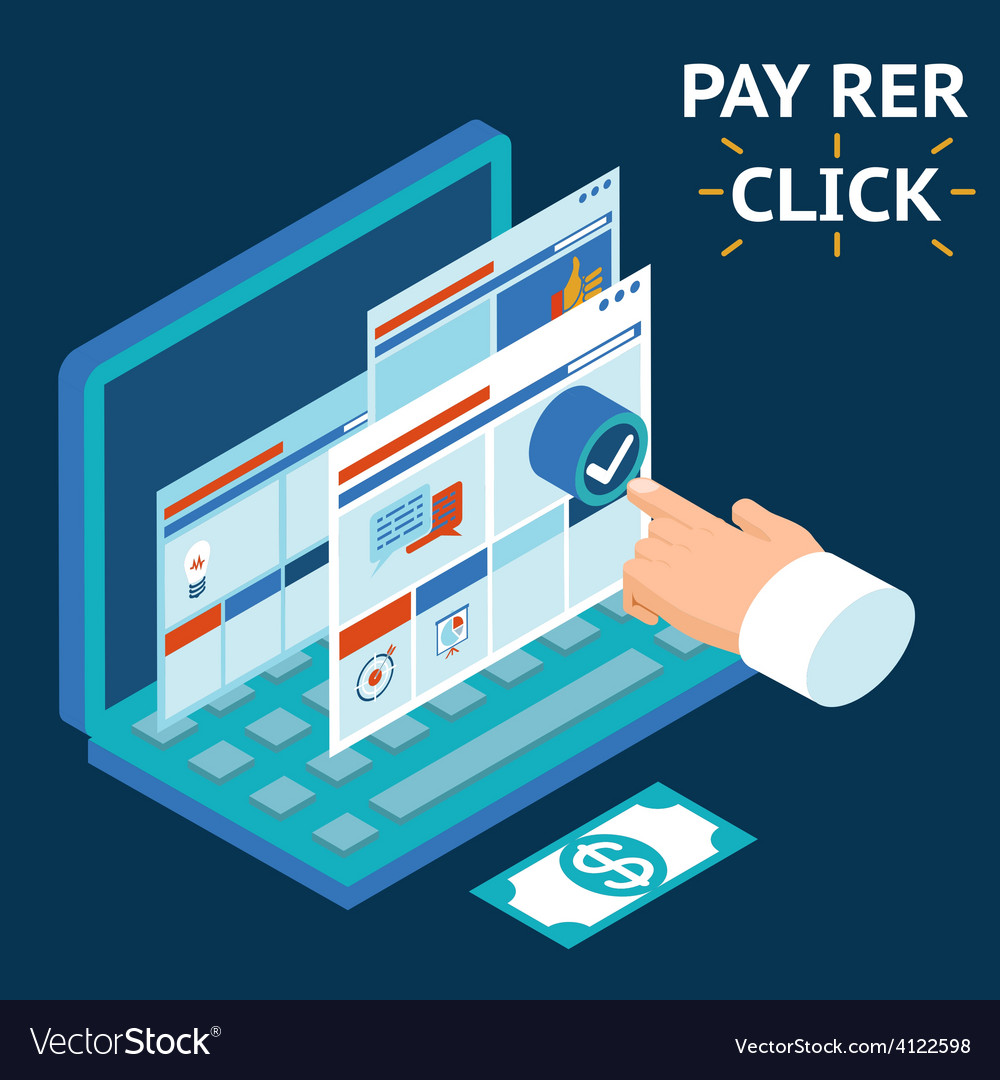Pay per click infographics vector | Price: 1 Credit (USD $1)