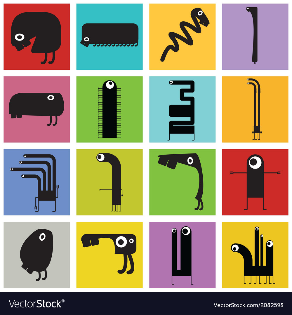 Set of monster vector | Price: 1 Credit (USD $1)