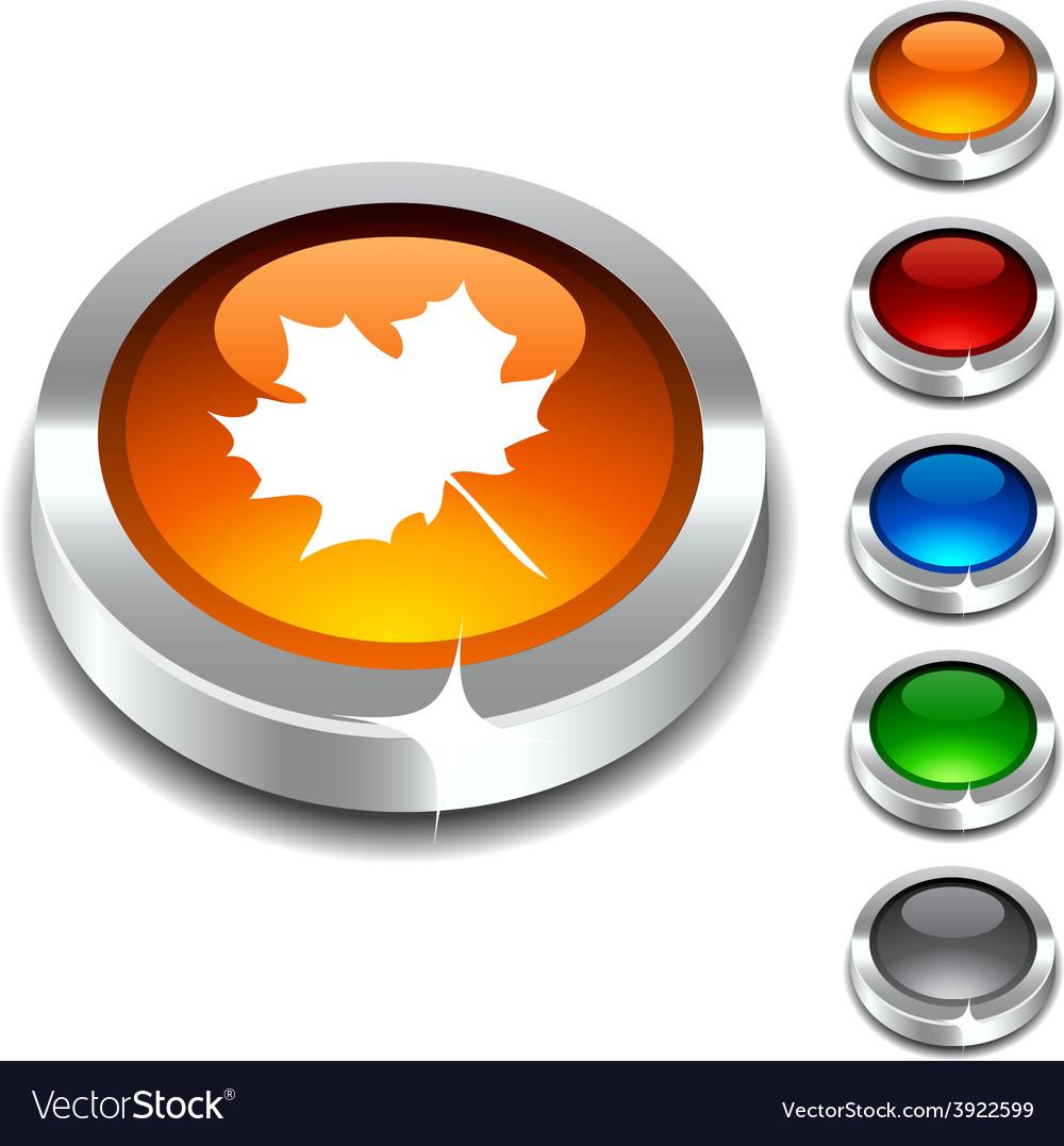 Autumn 3d button vector | Price: 1 Credit (USD $1)