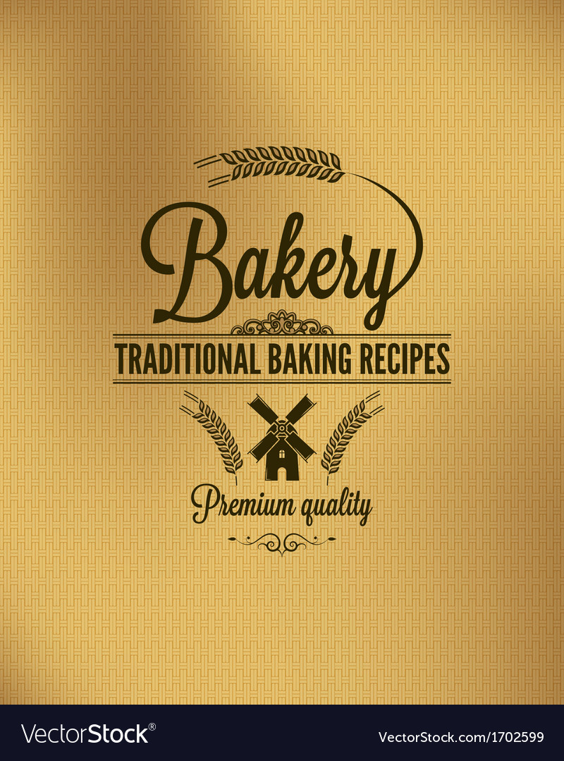 Bakery vintage bread label background vector | Price: 1 Credit (USD $1)
