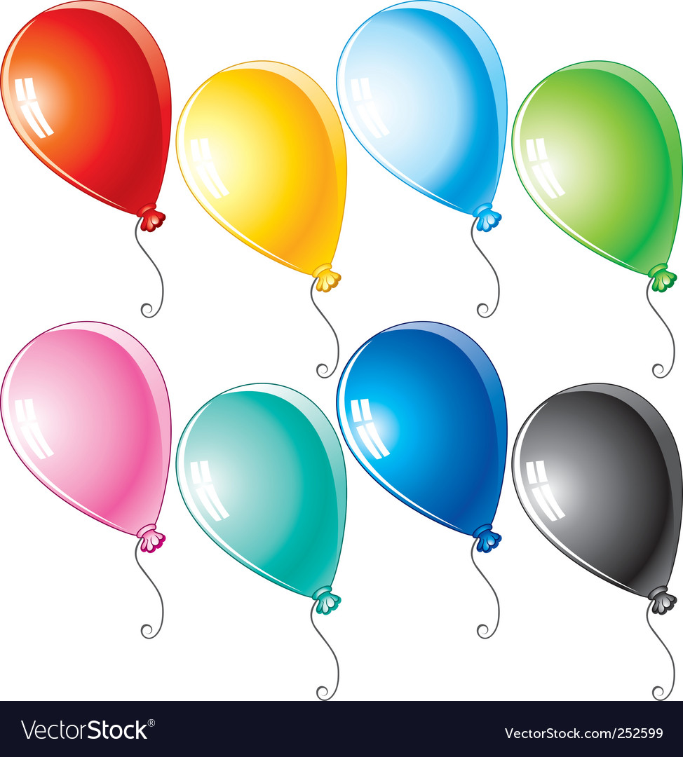 Cartoon balloons vector | Price: 3 Credit (USD $3)