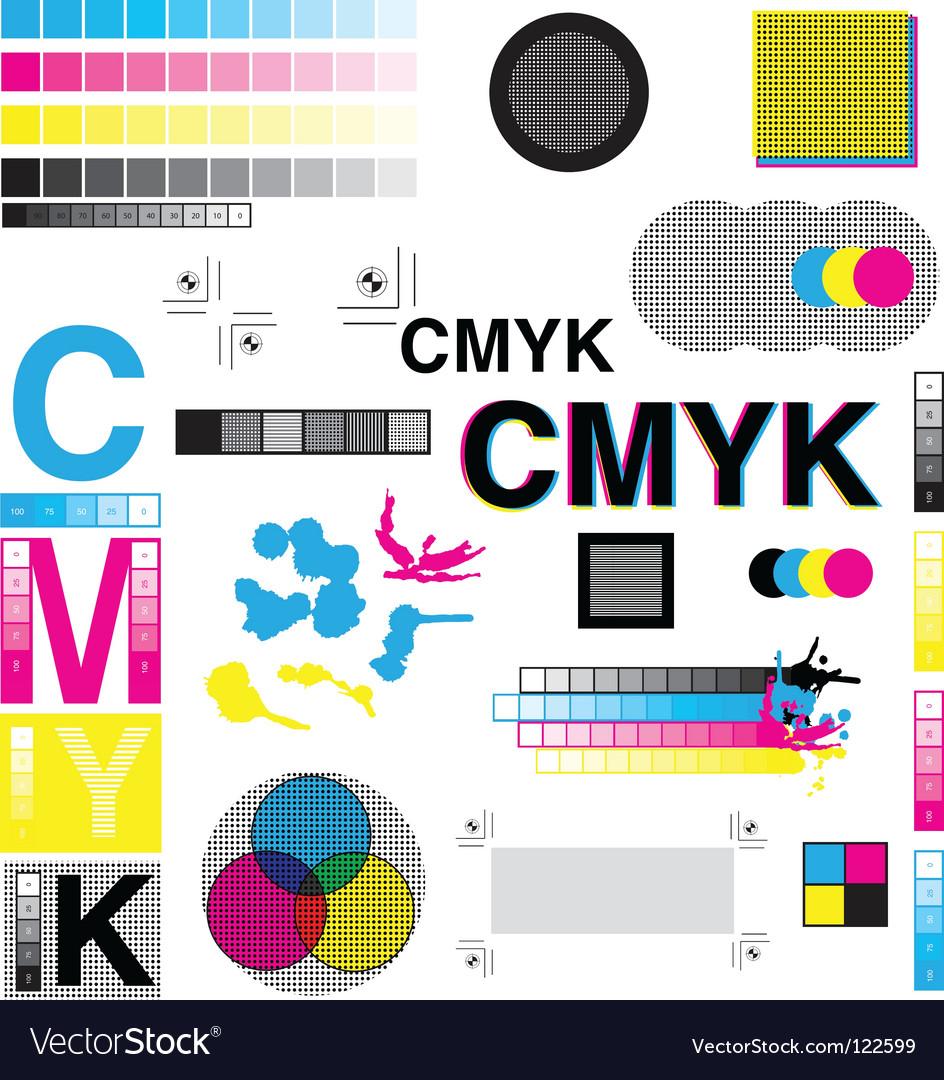 Cmyk designs vector | Price: 1 Credit (USD $1)