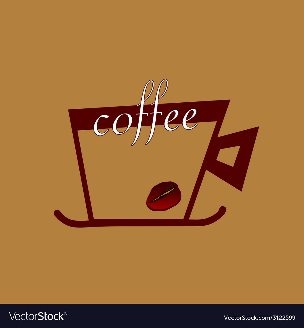 Coffee with beans color vector | Price: 1 Credit (USD $1)