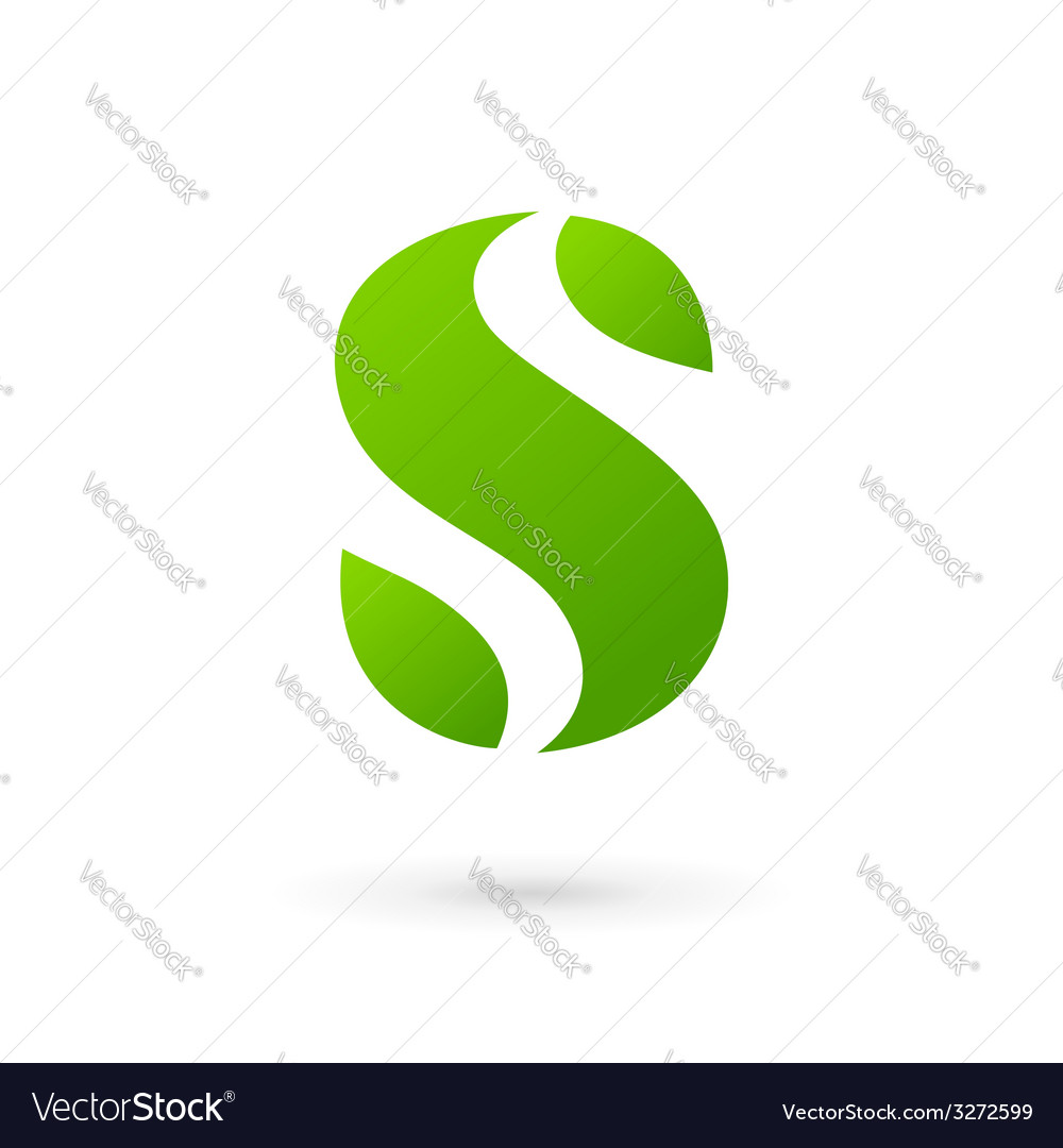 Letter s eco leaves logo icon design template vector | Price: 1 Credit (USD $1)