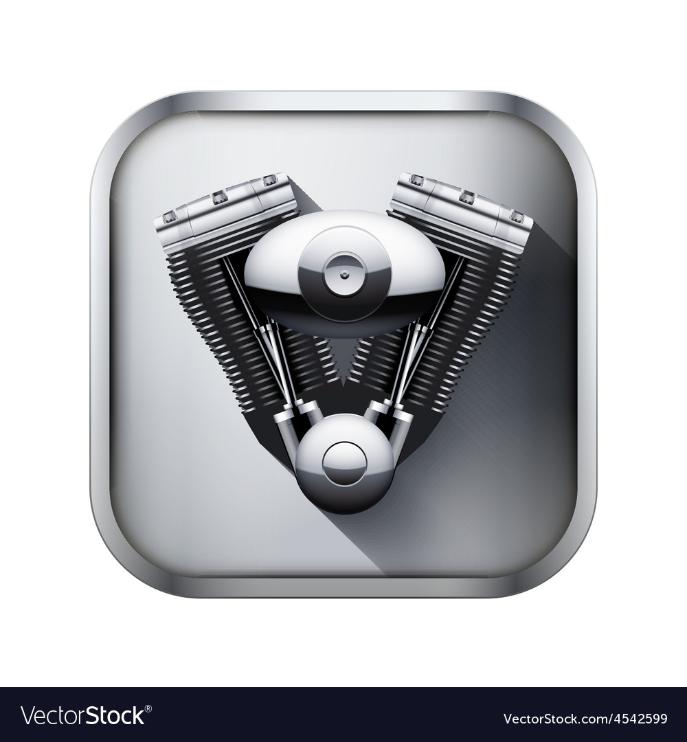 Metal icon with engine vector | Price: 3 Credit (USD $3)