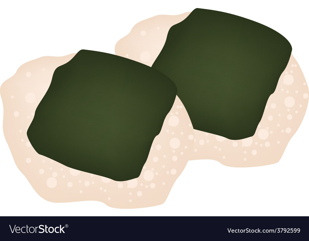 Nori senbei or japanese seaweed cracker vector | Price: 1 Credit (USD $1)