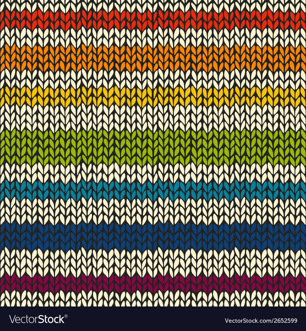 Seamless pattern with knitted stripes vector | Price: 1 Credit (USD $1)