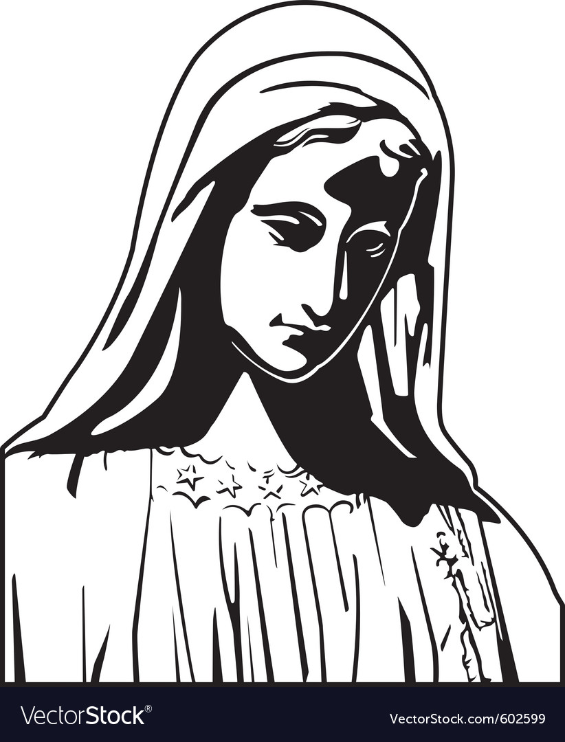 Virgin mary vector | Price: 1 Credit (USD $1)