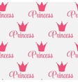 Princess crown seamless pattern background vector