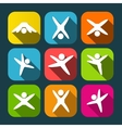 Icons of modern people leading active lifestyle vector