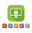 Color set of flat web safety icon vector