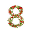 Christmas floral tree number 8 vector