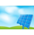 Solar panel on a blue sky vector