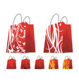 Floral shopping bags vector