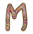 Beautiful letter m vector