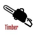 Black petrol chainsaw logo or emblem vector