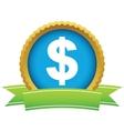 Gold dollar logo vector